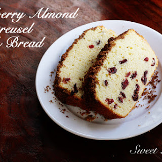 Cranberry Almond Streusel Quick Bread