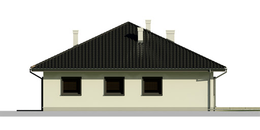 Dom przy Słonecznej 3 - Elewacja tylna