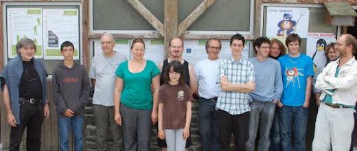Photo: L'équipe de Linux Quimper était en nombre pour accueillir les personnes intéressées par les logiciels libres (photo DR)