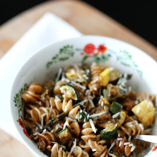 Roasted Vegetable Whole Wheat Pasta Salad.