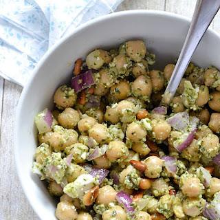 Chickpea Pesto Salad