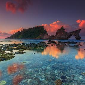 Atuh by I Komang Windu - Landscapes Waterscapes ( clouds, sunrise, beach, landscape, rocks, photography )