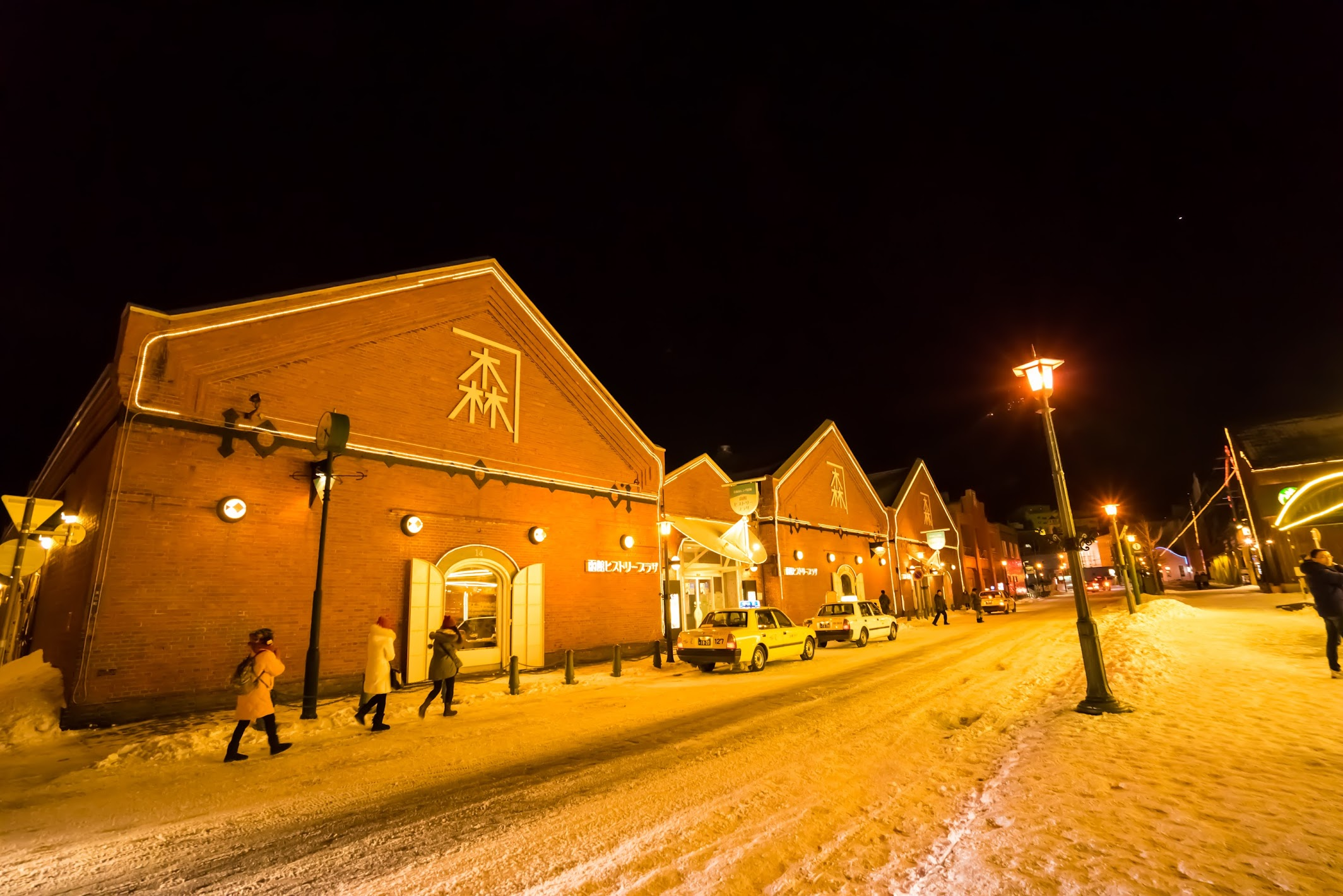 Hakodate Bay area Kanemori Red Brick Warehouse light-up2
