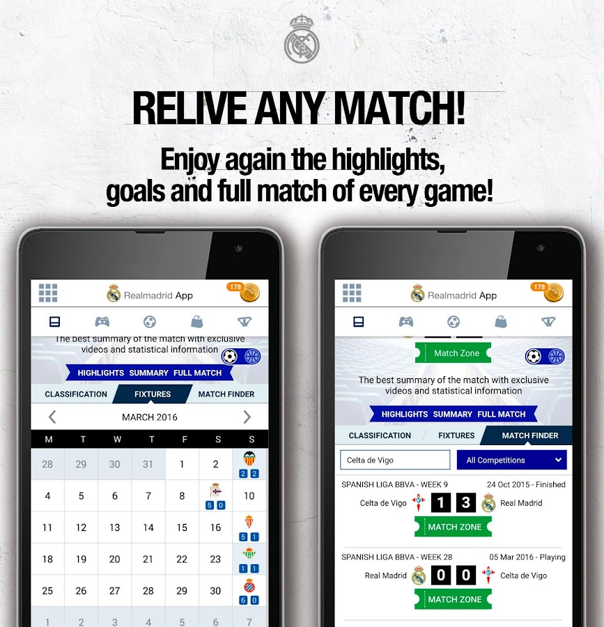 Real Madrid App- screenshot