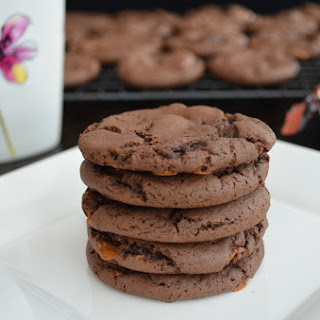 Lazy Sunday Double Chocolate Skor Cookies