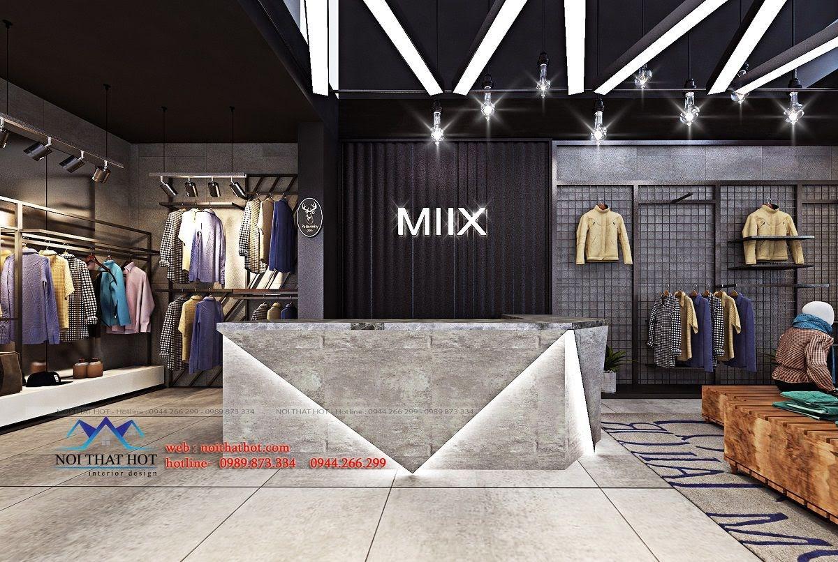 thiết kế shop thời trang nam H2T 3