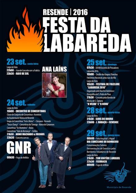 Programa da Festa da Labareda – Resende – 2016