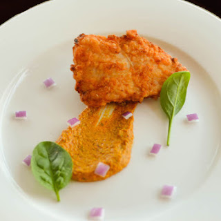Fish 65 with Indian Quinoa and Tomato Chutney