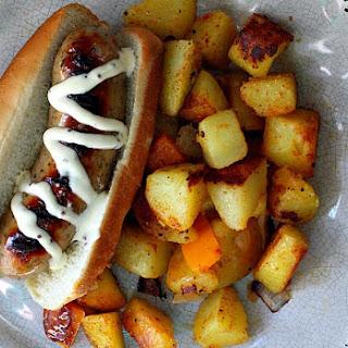 Chicken Apple Sausage Breakfast Hot Dogs.