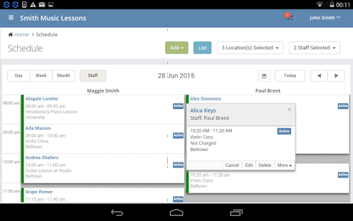 Scheduling and Billing App- screenshot thumbnail