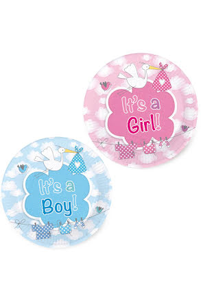 Papperstallrik, it's a boy/girl 8st