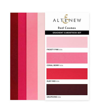 Altenew Gradient Cardstock Set - Red Cosmos
