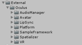 oculus in unity project
