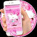 Pink Princess Kitty Launcher Theme😻 icon