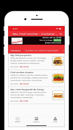 Meu Chef Lanches: Delivery screenshot 2