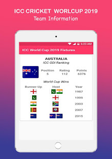 world cup 2019 fixtures
