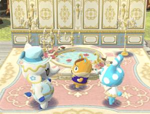 ティーナとバラのお風呂の画像