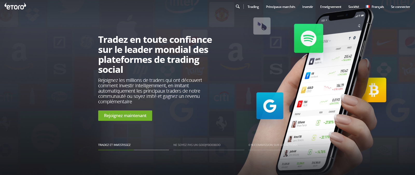 interface etoro