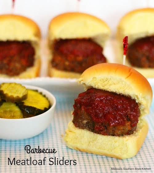 "Click Here for Recipe: Barbecue Meatloaf Sliders ""These delicious little barbecue meatloaf..."