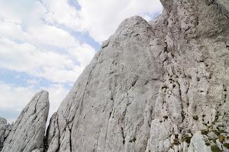 Photo: Slanění z vrcholu Fleischbank