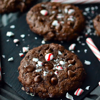 Candy Cane Crunch Brownie Cookies