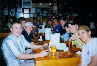 Photo: The Fightin' Phone Books at Show Me's celebrating their League Championship victory over the G-Men in the Summer of 1999.