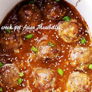 Crock Pot Asian Meatballs.