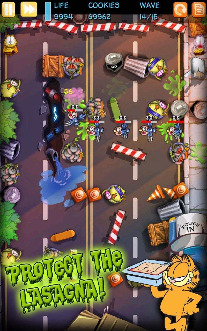 Скриншот Garfield Zombie Defense