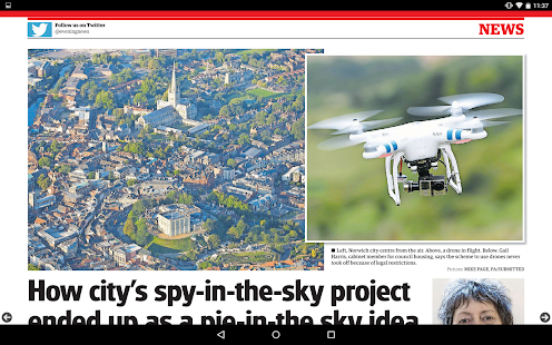 Norwich Evening News- screenshot thumbnail
