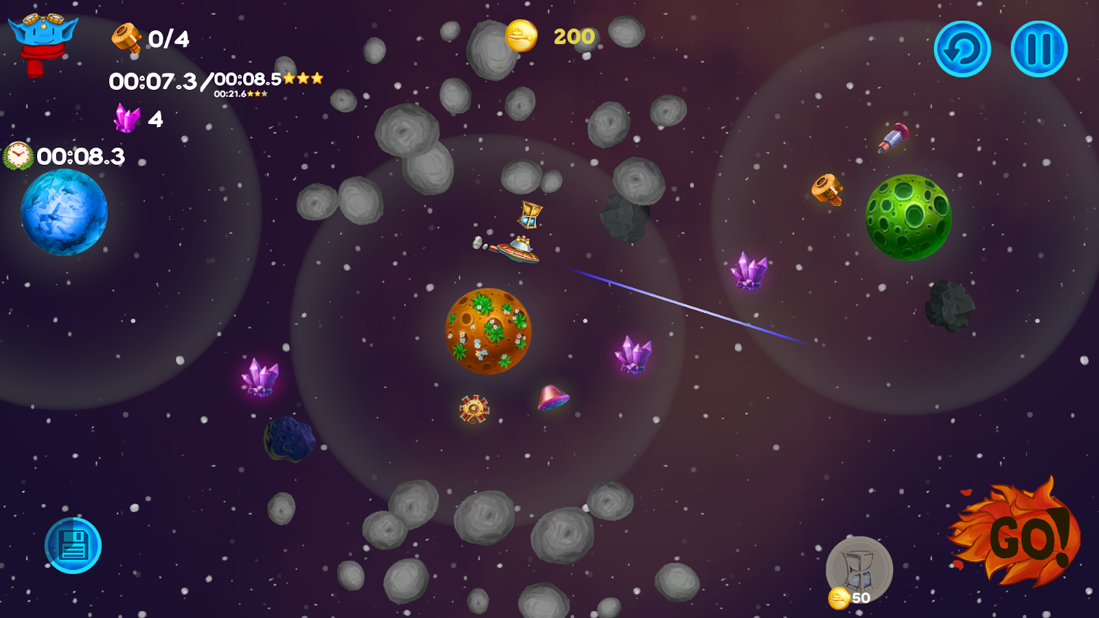 Among the Asteroids- screenshot