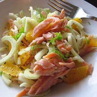 Fennel & Orange Salad with Smoked Trout.