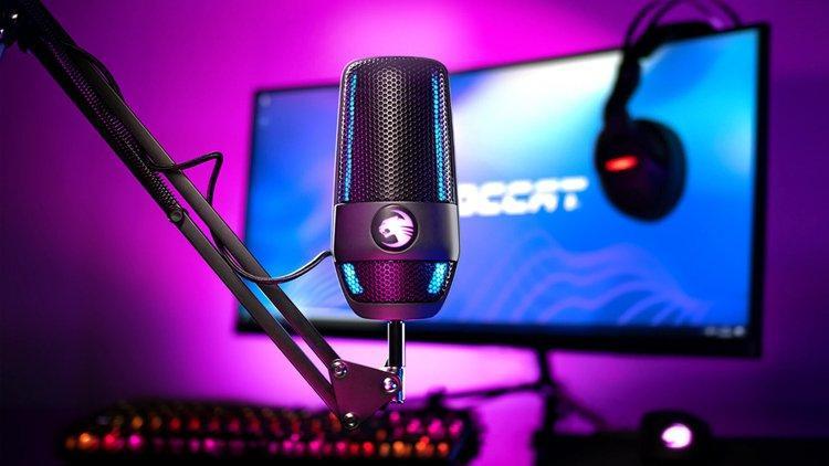 Roccat выпустила 100-долларовый микрофон Torch для стримеров со студийным  качеством звука