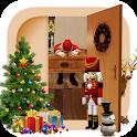 Escape room:Sleepy Christmas and gift icon