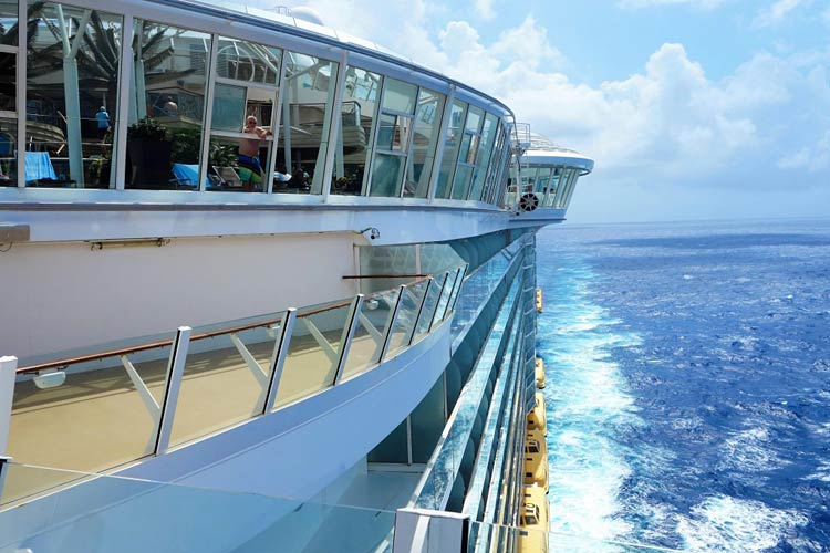 Head to the sun deck on deck 14 for fresh air and spectacular views.