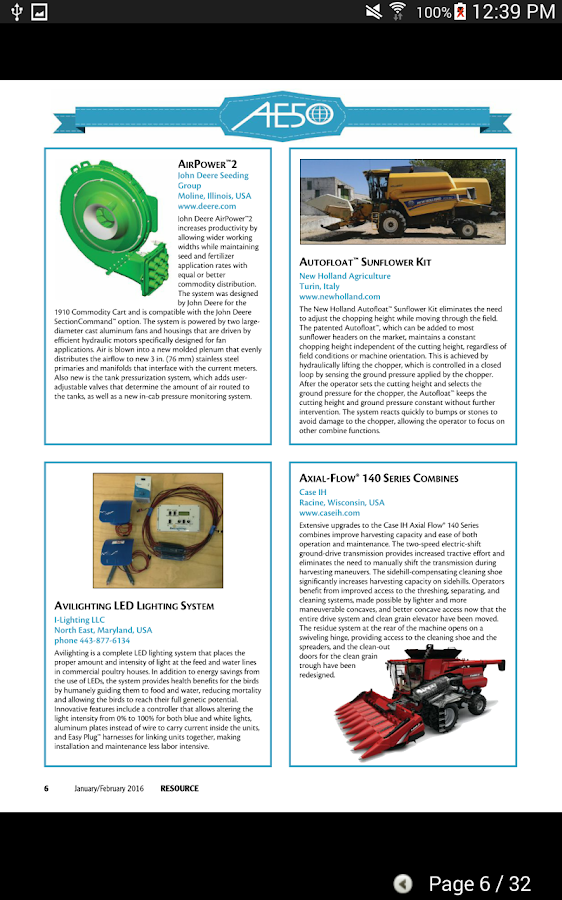 asabe�s resource magazine android apps on google play