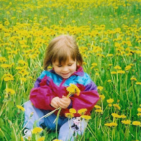 Field of yellow by Carol Keskitalo - Novices Only Portraits & People ( candid children, children, yellow, dandelions, spring )