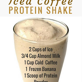Iced Coffee Protein Shake.