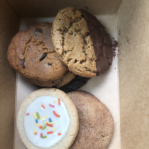 Cookie selection, all gluten/dairy/egg/nut free