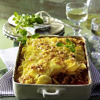 Bolognese and Potato Gratin