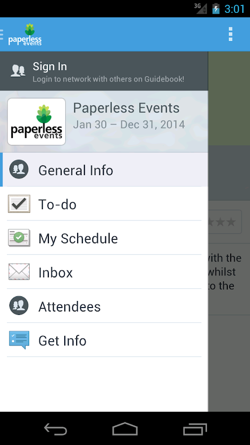 Paperless Events- screenshot