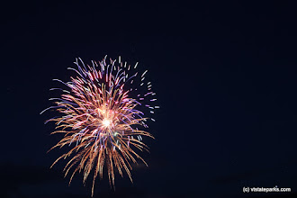 Photo: Colorful bright fireworks at Stillwater State Park by David Jalbert