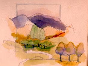 Photo: 1999 The golf course. Lake Lure, North Carolina. Watercolor.