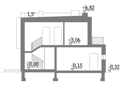 Attykowy (z wentylacją mechaniczną) - EC351 - Przekrój