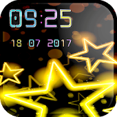 Digital Clock Live Wallpaper with Neon Theme
