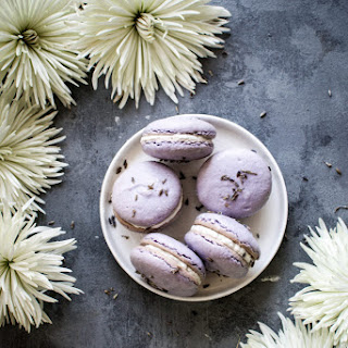Lavender Coconut Honey Macarons