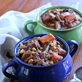 Slow Cooker Farmer's Market Beef Stew.