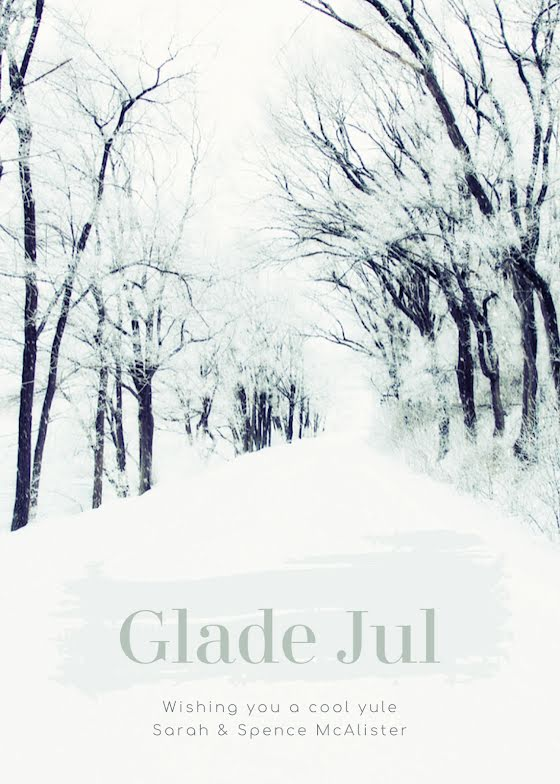 Glade Jul Yule - Christmas Card Template