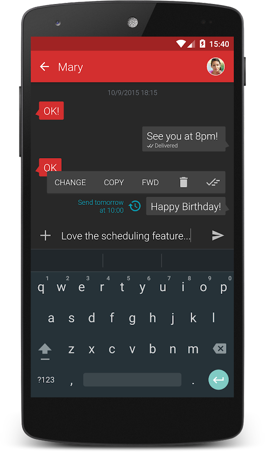 Textra SMS- screenshot