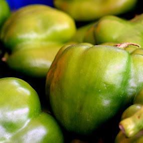 Capsicum. by Vinod Rajan - Food & Drink Fruits & Vegetables ( green, capsicum, spice, store, vegetable, vegetables, spices, food, chilli )