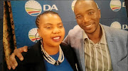 DA member Ntombenhle Rulumeni and  party leader Mmusi Maimane.